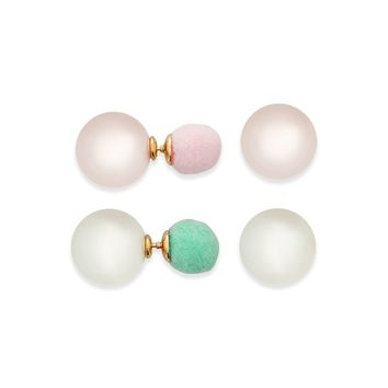 Faux Pearl Ear Jacket Set