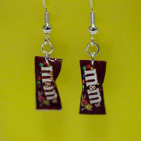 Kawaii Miniature Food Earrings  MINI M&M by fingerfooddelight