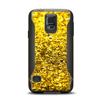 The Gold Glimmer Samsung Galaxy S5 Otterbox Commuter Case Skin Set