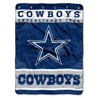 Dallas Cowboys NFL Royal Plush Raschel (12th Man Series) (60in x 80in)