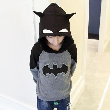 Batman Dark Knight gift Christmas T-shirts For Boys Long Sleeve tshirt Blouses Girls T-shirt Hoody Kids Clothes Batman Cartoon Tshirts AT_71_6