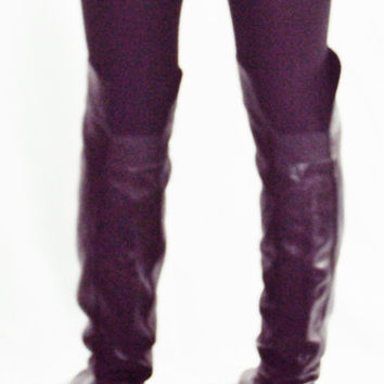 Over the Knee Boots 9, 9.5 / Black Leather Boots 9 / OTK Boots 9 / Dolce Vita Boots /