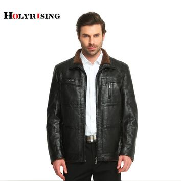 Jacket fur coat middle-aged leather PU jacket coat stand collar