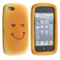 Neewer Cute 3D Smiling Face Soft Hamburger Back Case Cover for iPhone 5 5G LT-4
