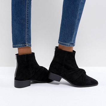 Pull&Bear Ankle Boot With Twist Front Detail at asos.com