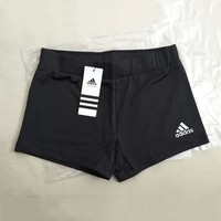 Adidas Women Embroidery Leisure Sports Shorts