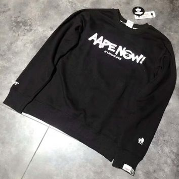 AAPE High Quality Trending Long Sleeve Print Pullover Sweater G-A-HRWM