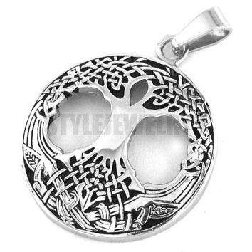 Celtic Knot Life Tree Pendant Stainless Steel for  Women -Biker Pendant
