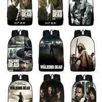 The Walking Dead/zombies Backpack For Teenagers Girls Boys School Bags Men Women Daily Bag School Shoulder bag