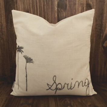Spring Flowers 16 x 16 Pillow Cover, houswarming gift, seaonal