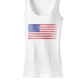 Weathered American Flag Womens Tank Top
