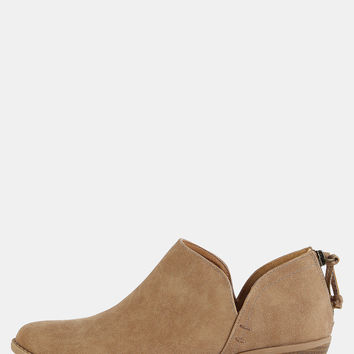 Low Cut Stacked Heel Boots TOFFEE | MakeMeChic.COM