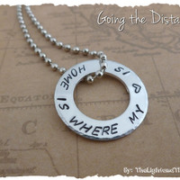 Deployment Necklace - Military & LDR - Hand Stamped