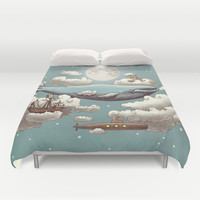 Ocean Meets Sky Duvet Cover by Terry Fan