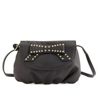 Studded Bow Cross-Body Bag: Charlotte Russe