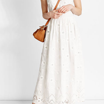 Cotton Dress with Lace Detail - R.E.D. Valentino | WOMEN | US STYLEBOP.COM