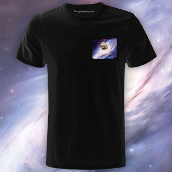[Astrosloth Intensifies] Black Pocket Tee
