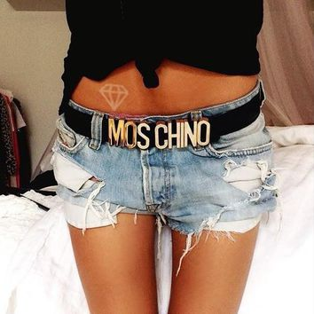 MOSCHINO letters Belt fashion wild candy candy belt-6