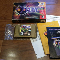 The Legend of Zelda Majoras mask - collectors edition lenticular label gold cart CIB complete in box Nintendo 64 n64 console system game