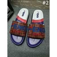 Fendi 2019 new street fashion men and women decals casual beach sandals #2