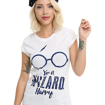 Harry Potter Yer A Wizard Girls T-Shirt