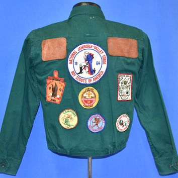 60s Boy Scouts of America Jamboree Patches Jacket Small