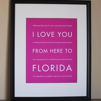 Florida Art Print, 8x10 on Luulla
