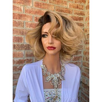 Blonde Hair Wig, Ombre Light Blonde 919 6