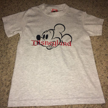 Sale!! Vintage MICKEY MOUSE Disneyland T shirt Kids' Disney tee Made in USA
