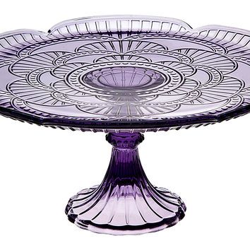 Marcella Cake Plate, Amethyst, Cake Stands & Tiered Trays