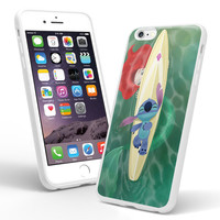 ariel little mermaid and stich iPhone and Samsung Galaxy Case