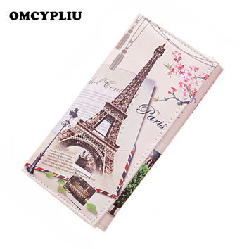 Women's Wallet Paris, brittish Theme Graffiti Pattern