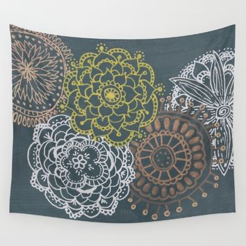 Metallic Mandalas Wall Tapestry by Laura Host