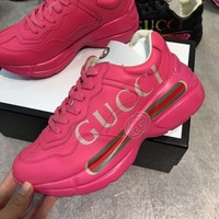 DCCK Gucci Fashion Women Casual Running Sport Shoes Sneakers Slipper Sandals High Heels Shoes