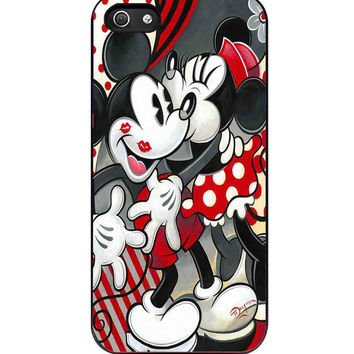 Hugs and Kisses Disney Mickey Minnie mouse iPhone 5s For iPhone 5/5S Case