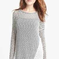 Two by Vince Camuto Mixed Stitch Crewneck Sweater (Regular & Petite) | Nordstrom