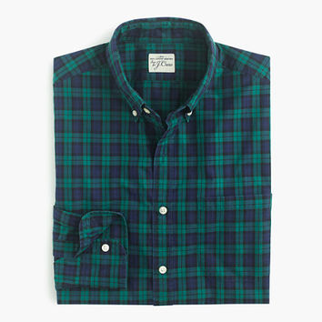 J.Crew Mens Slim Secret Wash Shirt In Shamus Tartan