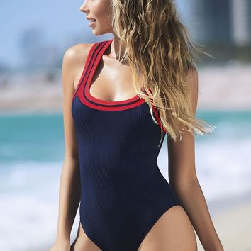 Mapale 6980 One Piece Swimsuit Color Navy