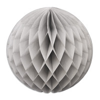 Gray Honeycomb Tissue Ball 12""