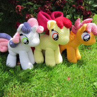 Cutie Mark Crusaders Pattern  My Little by NerdyKnitterDesigns