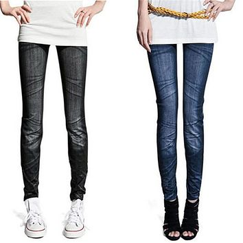 Skinny Womens Trousers Denim Jeans Leggings Jeggings Tights Stretch Pants Trousers Casual Girls Top Quality Clothing