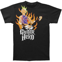 Guitar Hero Men's  British Punk T-shirt Black Rockabilia