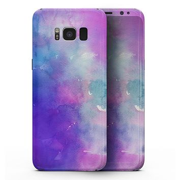 Blue 972 Absorbed Watercolor Texture - Samsung Galaxy S8 Full-Body Skin Kit