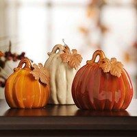 Ceramic Pumpkins, Set of 3 | Kirklands