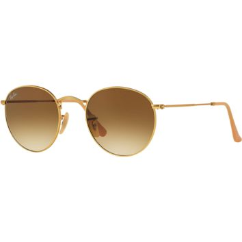 Ray Ban Round Sunglasses Matte Gold, Gradient Brown RB 3447 112/51