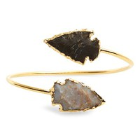 Women's Sole Society 'Arrowhead' Natural Stone Station Cuff