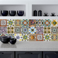 Tile decals Stickers - Tile Decals - Tile decals for Kitchen or Bathroom - PACK OF 20 - Mexico, Morocco, Portugal, Spain, Mosaic #10 - Edit Listing - Etsy