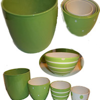 Set of 4 Trendy Green  Bowls FREE SHIPPING ALL ORDERS