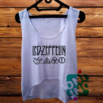 Led Zeppelin Logo crop tank Women's Cropped Tank Top