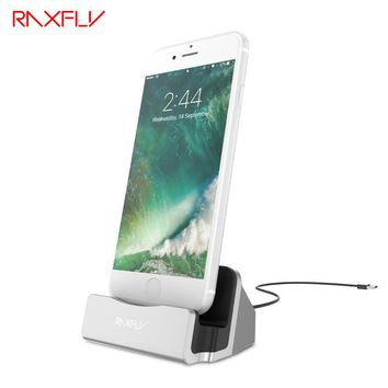 RAXFLY Charger Dock Station For iPhone 5 5s SE 6 6s 6 Plus 7 7 Plus Dock Stand Phone Charger For iPad Mini Air Phone Accessories